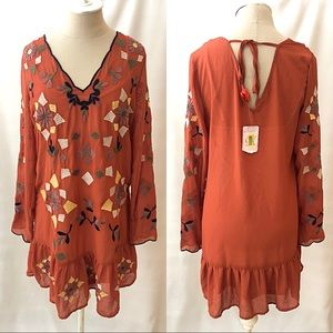 NWT Chelsea & Violet Embroidered Floral Dress